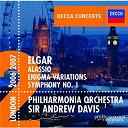 Sir Andrew Davis / Sir Edward Elgar / The Philharmonia Orchestra - Elgar: symphony no.1/enigma variations