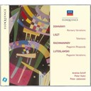 András Schiff / Ernst Von Dohnányi / Franz Liszt / Peter Jablonski / Peter Katin / Serge Rachmaninov / Witold Lutoslawski - Dohnanyi: nursery variations; liszt: totentanz; rachmaninov: paganini rhapsody