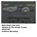 Spare Snare - Upstairs at the garage, london, 06.04.97