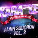 Karaoké Playback Français - Les succès d'alain souchon vol. 2