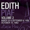 Édith Piaf - Live in paris, vol. 2 - edith piaf